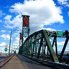 Hawthorne Bridge in Color by AmishElectricCo