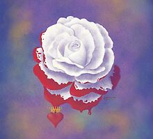 Painted Rose - Pillows & Totes by Audra Lemke