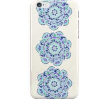 Royal Blue, Teal, Mint & Purple Mandala Flower iPhone Case/Skin
