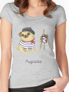 Pugcasso Women's Fitted Scoop T-Shirt