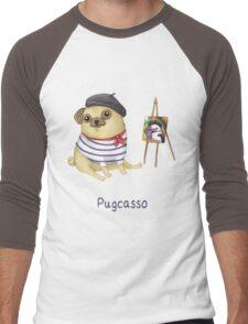 Pugcasso Men's Baseball ¾ T-Shirt