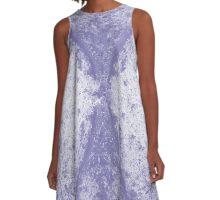 Step Crack Meeting Design (Scampi Purple Color) A-Line Dress
