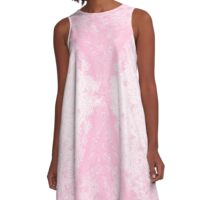 Step Crack Meeting Design (Cotton Candy Rose Color) A-Line Dress