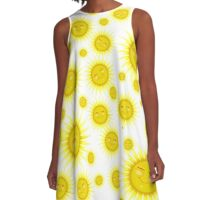 Many Happy faces- Sun A-Line Dress