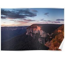 Morning on the cliffs Poster