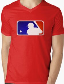 mlb logo Mens V-Neck T-Shirt