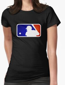 mlb logo Womens Fitted T-Shirt