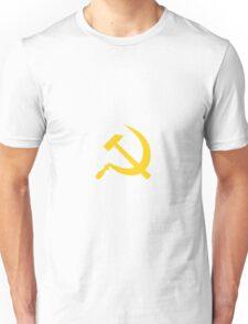 Yellow Hammer and Sickle  Unisex T-Shirt
