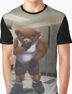 Bodybuilder Teddy - the Shrinkage Graphic T-Shirt