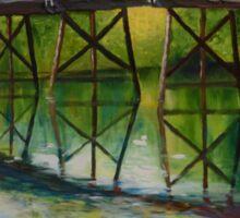 The Old North Bridge (Concord, MA). Original oil painting Sticker