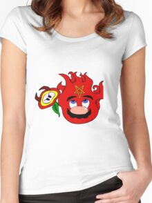 satan mario flower power Women's Fitted Scoop T-Shirt