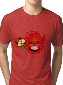 satan mario flower power Tri-blend T-Shirt