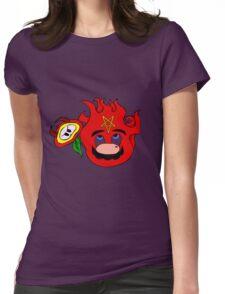 satan mario flower power Womens Fitted T-Shirt