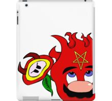 satan mario flower power iPad Case/Skin