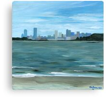 Boston from Georges Island Canvas Print