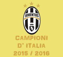 Juventus Campione d'Italia 2015 2016 One Piece - Short Sleeve