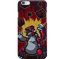 Groudon Used Eruption Pokemon Design Art iPhone Case/Skin