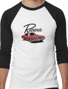Buick Riviera (49487) '1966 (red) Men's Baseball ¾ T-Shirt