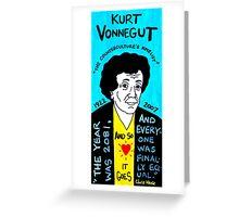 Kurt Vonnegut Pop Folk Art Greeting Card