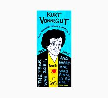 Kurt Vonnegut Pop Folk Art Unisex T-Shirt