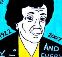 Kurt Vonnegut Pop Folk Art Sticker