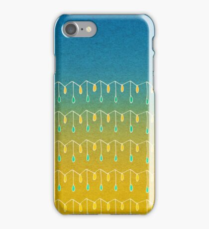 Droplets, Blue and Yellow iPhone Case/Skin