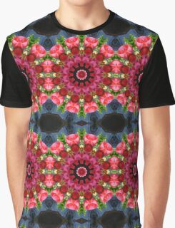 Red blossoms, Flower Mandala Graphic T-Shirt