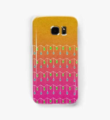 Droplets, Orange and Pink Samsung Galaxy Case/Skin