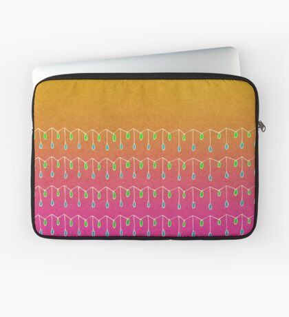 Droplets, Orange and Pink Laptop Sleeve