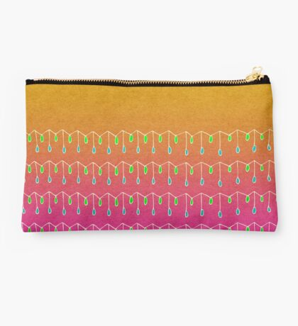Droplets, Orange and Pink Studio Pouch