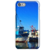The Blue Fisher Boat iPhone Case/Skin