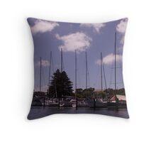 Yachts on the Moyne Throw Pillow