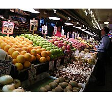 Pikes Place Market Fruit and Vegetable stands...... Photographic Print