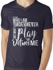 FunnyBONE What Defines Me Mens V-Neck T-Shirt