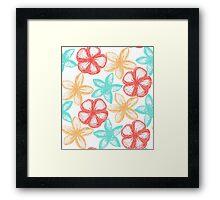 Graphic frangipani Framed Print