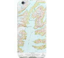 USGS TOPO Map Alaska AK Seward A-4 358871 2000 63360 iPhone Case/Skin