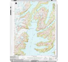 USGS TOPO Map Alaska AK Seward A-4 358871 2000 63360 iPad Case/Skin