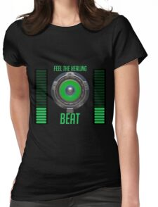 Feel the Healing Beat! Womens Fitted T-Shirt