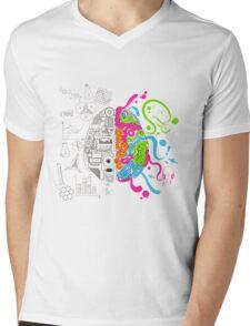 T-shirt Brain Mens V-Neck T-Shirt