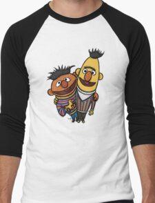 Bert And Ernie Men's Baseball ¾ T-Shirt