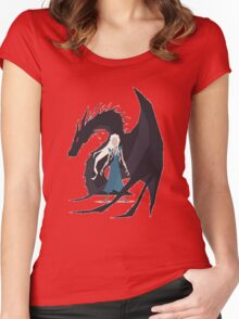 Game of Thrones :: Daenerys :: Dragon Women's Fitted Scoop T-Shirt