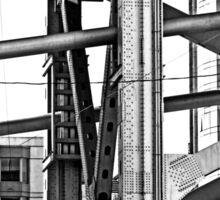 Urban Living in San Francisco - The Bay Bridge & Apartments Sticker
