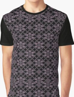 Elyse Lace Black and Pink Graphic T-Shirt