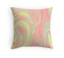 Pink Ink Throw Pillow