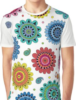 Flowers of Desire white Graphic T-Shirt