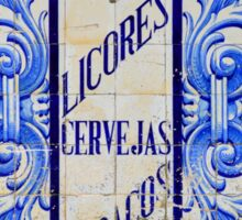 Wines, Spirits, Beers and Tobaccos azulejo Sticker
