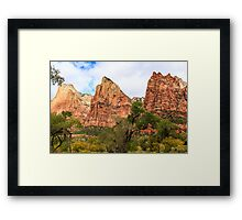Three Sisters at Zion Framed Print