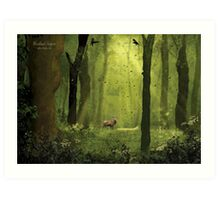 Woodland Surprise Art Print