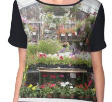 Farm and Flower Market Greenhouse Chiffon Top