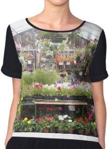Farm and Flower Market Greenhouse Chiffon Top
